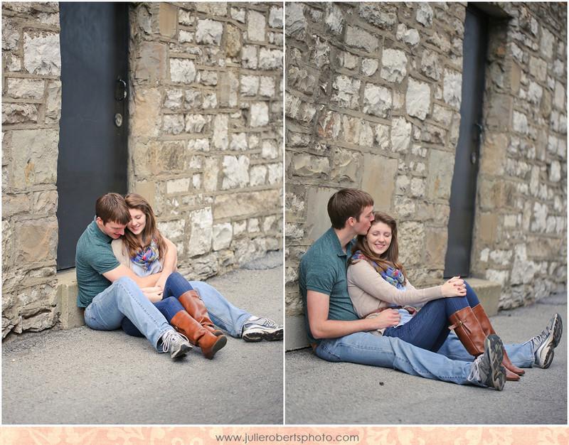 Heather Stamper and Scott Brabon :: Downtown Lexington Kentucky Engagement Photos at Natasha's, Julie Roberts Photography